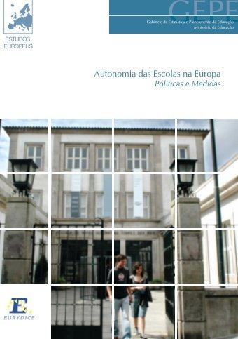 Autonomia das Escolas na Europa. Políticas e Medidas