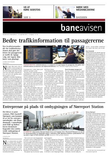 Bedre trafikinformation til passagererne - Banedanmark