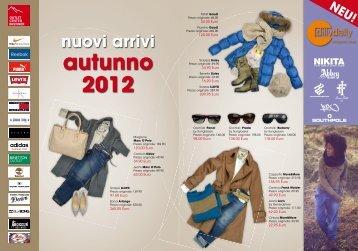nuovi arrivi autunno 2012
