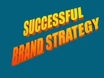 Sucessful Brand Strategy (PDF)