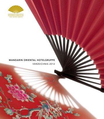 MANDARIN ORIENTAL HOTELGRUPPE VERZEICHNIS 2012