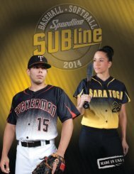 NEW 2014 Subline Catalog - Speedline Athletic Wear
