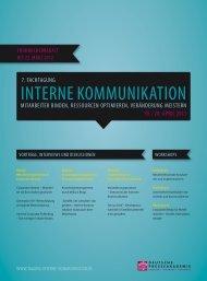 Broschüre - Tagung Interne Kommunikation