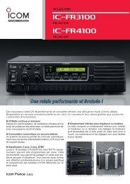Documentation commerciale IC-FR3100, IC-FR4100 - Icom France