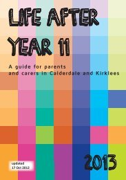 Year 11 parents - Calderdale and Kirklees Careers Service ...