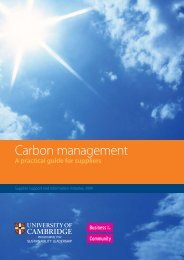 Carbon management - Cambridge Programme for Sustainability ...