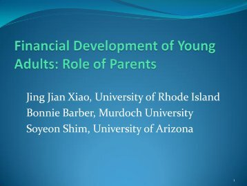 Financial Development of Young Adults in Transition