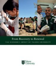 From Recovery to Renewal - Tulane University
