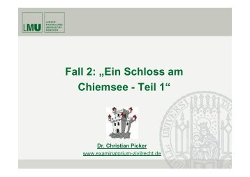 "Fall 2: ""Ein Schloss am Chiemsee - Teil 1"""