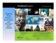 T ti Targeting Young Women in Rural Ghana with ... - AudienceScapes