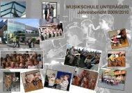 MUSIKSCHULE UNTERÄGERI Jahresbericht 2009/2010