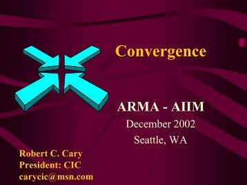 2. Convergence of Records Management Software - AIIM