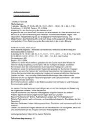 Aufbaustudiengang: Erwerb praktischer Fähigkeiten ANDREA ...