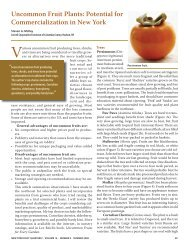 Uncommon Fruit Plants - New York State Horticultural Society