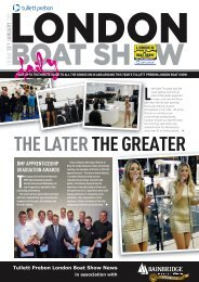 THE LATER THE GREATER - London Boat Show