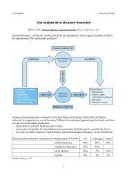 1-Analyse économique de la structure financière