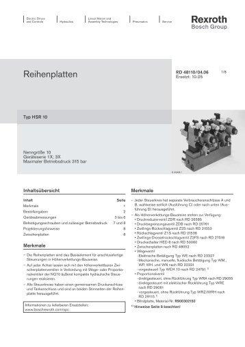 Datenblatt - Bosch Rexroth