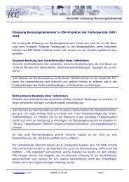 Erfassung Beratungsteilnehmer in ESF ... - ECG GmbH Berlin