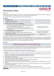 Hotelstorno Plus Europäische Reiseversicherung - EN
