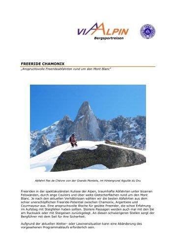 FREERIDE CHAMONIX - Via-Alpin.de