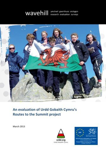 An evaluation of Urdd Gobaith Cymru's Routes to the Sumit Project