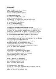 Die Botschaft Es gab eine Zeit in der ich ... - Doreen Schreiter