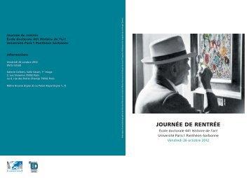 JOURNÉE DE RENTRÉE - Université Paris 1 Panthéon-Sorbonne