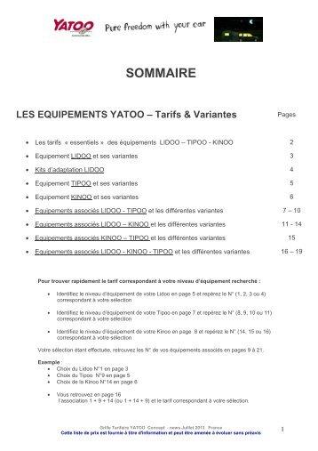 Tarifs Lidoo p. 3 - Yatoo