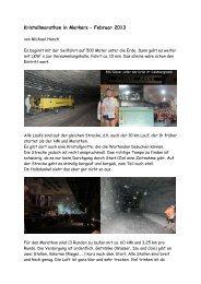 Kristallmarathon in Merkers – Februar 2013 - Das Erlebnislauf-Team