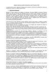 Compte rendu du conseil de faculté du lundi 25 janvier 2010