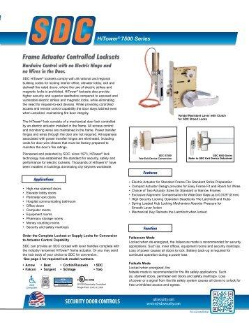 Datasheet - SDC Security Door Controls