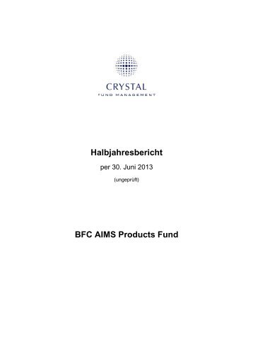 BFC AIMS Products Fund - Crystal Fund Management AG