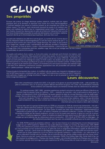 gluons - L'aventure de la physique des particules