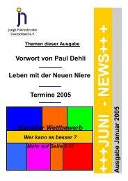 ++JUNI - NEWS++ - Junge Nierenkranke Deutschland e.V.
