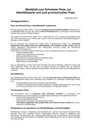 Merkblatt zum Schweizer Pass, zur Identitätskarte und zum ...