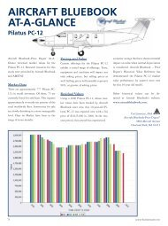 Aircraft Bluebook At-A-Glance Pilatus PC-12 - Business Air Today