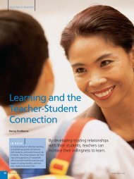 Learning and the Teacher-Student Connection - National ...