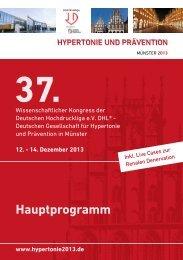 Hauptprogramm als PDF speichern - Hypertonie 2013