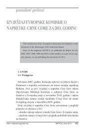 Izvještaj Evropske komisije za 2011 - Matica crnogorska