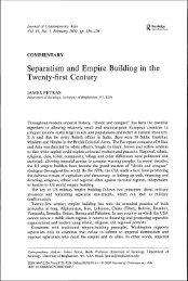 Separatism and Empire Building in the Twenty-first Century