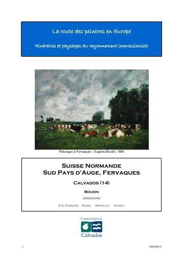 La route des peintres en Europe Suisse Normande Sud Pays d ...