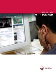 F5 Solutions for Media and Content Sites Guide - F5 Networks
