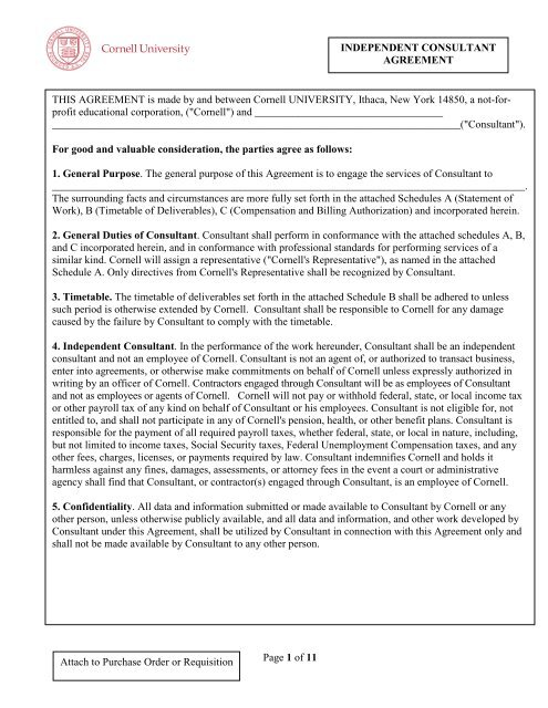 ferpa form cornell  Independent Consultant Agreement - DFA - Cornell University