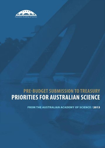 Pre-Budget Submission to Treasury: Priorities for Australian Science