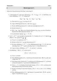 Matematik 1 side 1 Hjemmeopgavesæt 3: Afleveres til ...