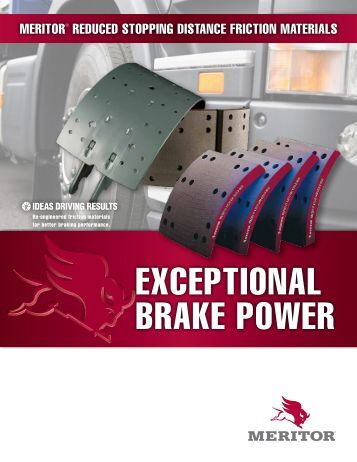 EXCEPTIONAL BRAKE POWER - CBS Parts Ltd.