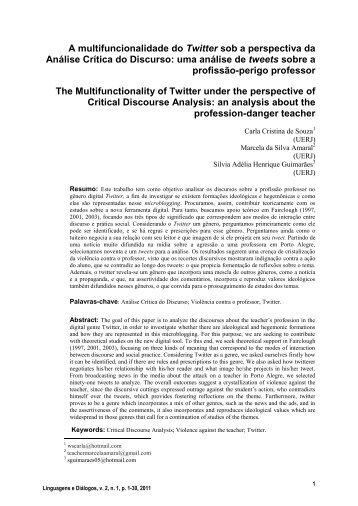 A multifuncionalidade do Twitter sob a perspectiva da Análise ...