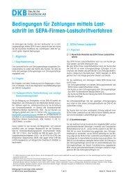 schrift im SEPA-Firmen-Lastschriftverfahren - DKB