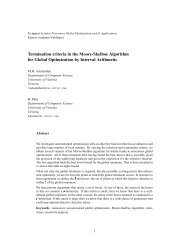 To appear in series Nonconvex Global Optimization and - Computer ...