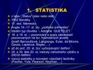 Statistika, vědecký výzkum, měření v pedagogickém ... - Lide na UHK